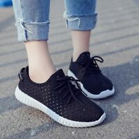 Womens Sport Mesh Athletic Flat Walking Casual Shoes Breathable Running Sneakers
