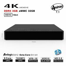 Hot M8S PRO DDR4 4K Smart Android 7.1 3G+32GB MINI TV Box Octa Core Media Player