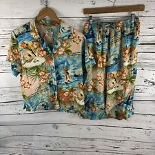 Vintage Jams World Hawaii Love Letter Tropical 2 Piece Outfit Size Large