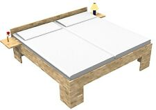 Bett Kerneiche Massivholzbett 160x200 Betten  Fuß II Doppelbett Seniorenbett