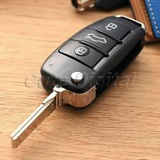 For Audi A2 A3 A4 A6 A6L A8 TT 3 Button Flip Folding Remote Key Fob Shell Case
