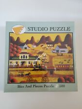 500 Piece Bits And Pieces Studio Puzzle TRAIN DEPOT by Lynn Kaatz Complete