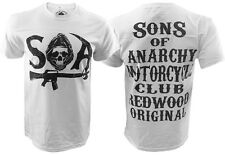Authentic Sons Of Anarchy SAMCRO Stacked T-Shirt, SOA, Motorcycles, Harley S-XXL