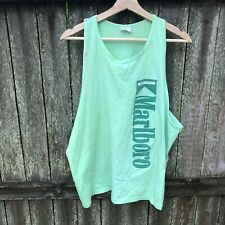 """Vintage Malboro Menthol Tank Top """"One Size Fits All"""" See Measurements Green"""