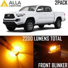 Alla Lighting Front Turn Signal Light 7440NA Yellow Blinker LED Bulbs for Honda