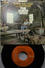 Rock Picture Sleeve 45 The Guess Who - Share The Land / Bus Rider On Rca