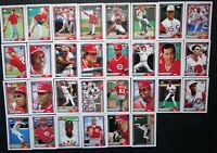 1992 Topps Cincinnati Reds Team Set of 30 Baseball Cards