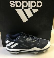 ADIDAS POWERALLEY 4 MEN'S BASEBALL CLEAT COLOR NAVY/WHITE SIZE 12.5 (Q16488)