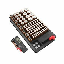 Coomatec Battery Organizer Support Aa, Aaa, D, C, 9V, and Button Batteries St.