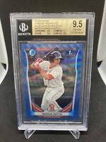 2014 Bowman Chrome Prospects Blue Wave Refractor Mookie Betts BGS 9.5