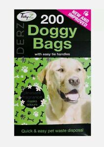 TidyZ 200 Doggy Bags Scented Pet Pooper Scooper Dog Cat Poo Waste Toilet Poop