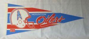 1980s Houston Oilers NFL Football Pennant Defunct