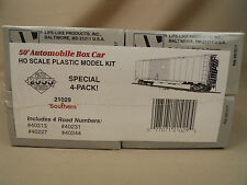 HO PROTO 2000 SOUTHERN 50' AUTOMOBILE BOX CAR (4-PACK) KIT