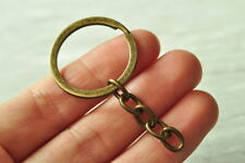Bag Fashion Metal Charm Gift Split 12pcs Keyring Keychain Key Ring Chain Keyfob