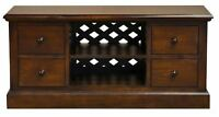 Mahogany TV Media Unit with Lattice Back