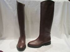 NEW WITH DEFECTS HOBBS LONDON PIPER BROWN PULL ON BOOTS UK 6 EU 39 US 8 (1509)