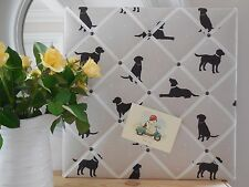 Labrador fabric memo board, notice board, pin board, 40x30cm