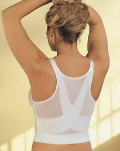 GLAMORISE 40B White Posture Back Support Long Line Soft Cup Bra Style 2260 NWOT