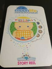 New! Moonlite Where is Baby's Belly Button? Storybook Projector Story Reel B109