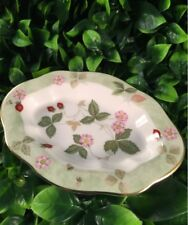Vintage Wedgwood 'Wild Strawberry' trinket/ 5 inch oval dish.