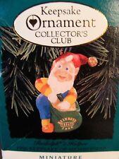 Hallmark Rudolph's Helper Miniature Ornament - Elf - 1996 Collector's Club - MIB