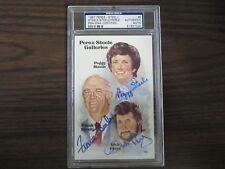 1987 Peggy & Frank Steele & Dick Perez Autograph / Signed Perez Steele PSA/DNA
