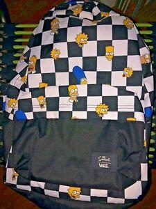 NEW Simpsons VANS Checkerboard Backpack