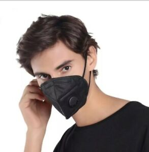 Black Face Mask With Filter & Activated Carbon UK STOCK FAST DELIVERY UK