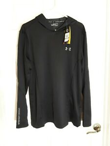 ☆NEW☆ Under Armour ColdGear Infrared Black 2XL Men's Hooded Pullover