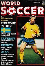 WORLD SOCCER FOOTBALL MAGAZINE Oct 1988>FC Barcelona,West Germany,Juventus