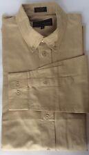 Boulevard Club Men Dress Shirt Long Sleeve 16 Linen Tan