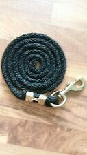 Horse Nylon Lead Rope 80 inches brass snap black