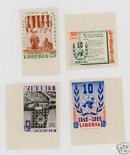 Liberia C93-96 IMPERF SET of 4  Sanabria Cat $40.00 APS SALES CIRCUT Page--