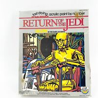 1983 STAR WARS C-3PO & R2-D2 RETURN OF THE JEDI Paint by Number 33090 Sealed