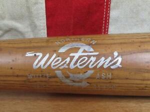 """Vintage 1950s Westerns Wood Baseball Bat Prep School HOF Ralph Kiner Type 35"""""""