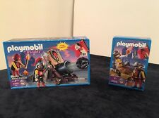 Playmobil Castle Knights Medieval 3320 and 3328 Dragon Attack Cannon Lot New