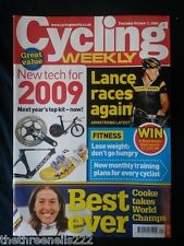 CYCLING WEEKLY - LANCE RIDES AGAIN - OCT 2 2008