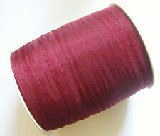 15 Mtrs Sheer Organza Ribbon - Burgundy Red - 6mm