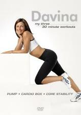 Davina MY THREE Workout DVD FITNESS WEIGHT LOS UNWANTED NR