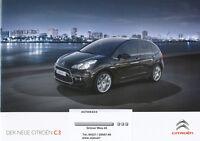Citroën C3 Prospekt 2009 7/09 brochure Citroen Autoprospekt Broschüre brosjyre