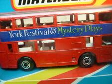 1983 MATCHBOX LESNEY SUPERFAST MB17 LONDON BUS YORK FESTIVAL & MYSTERY PLAYS MIB