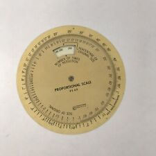 Vintage Used C-Thru Rotating Proportional Scale Ps-69 For Enlarging And Reducing