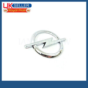 1PC Silver Chrome Emblem Badge Logo with Sticker New For OPEL 85mm x 60mm
