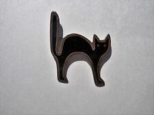 Anne Harvey Sterling Silver Vintage 925 Black Cat Onyx Brooch/Pin