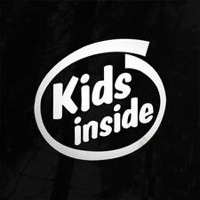 Kids inside enfants bébé à bord voiture van autocollant autocollant 4X4 jdm euro kids enfant