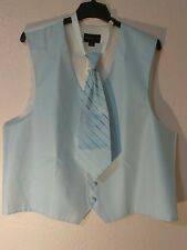 "New Men's Warehouse Outlet Vest/Tie Set ""PRONTO UOMO"" Size XL FREE SHIPPING"