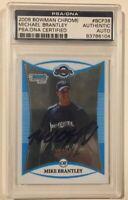 2008 Bowman Chrome Signed MICHAEL BRANTLEY Rookie Baseball Card PSA/DNA Astros