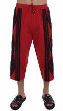 NEW $900 DOLCE & GABBANA Mens Red Black Torero 3/4 Pants Shorts Runway IT50 / L