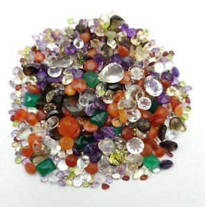 Natural 100 CT Mix gemstone lot~Amethyst, Citrine, Green Onyx, Quartz, garnet