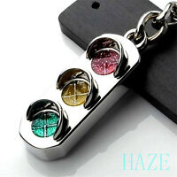 Mini Traffic Light Car Key Ring Chain Classic 3D Keyfob Keychain Ring Gifts Hot